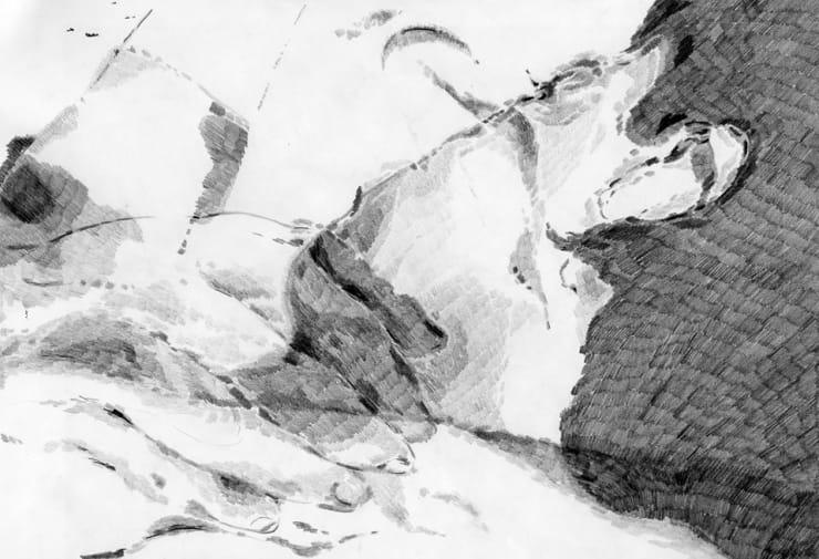 Jay Garden Hur – 'Face' : 21 x 29.5 cm (pencil on paper)