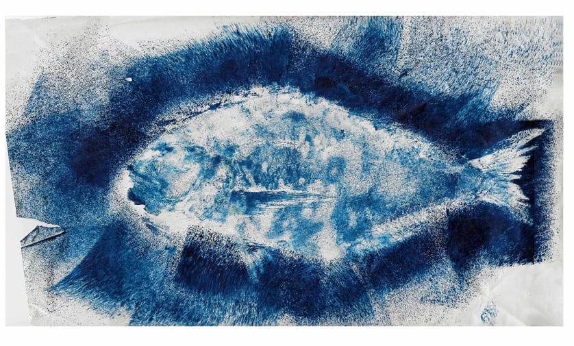 A fish print.