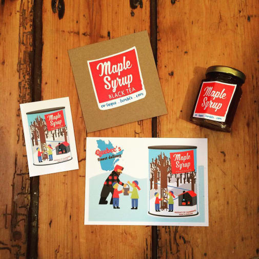 Just some of Eve Laguë's maple syrup products available in her small business.