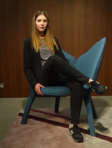 Cecile in the Lady B chair