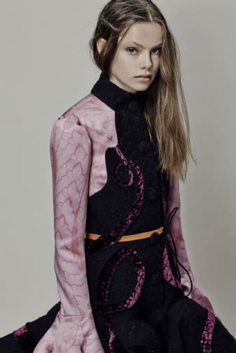Jane Allcock (BA Fashion Design Technology: Womenswear). Photographer: James Rees, Creative Direction: Rob Phillips, Hair: Ezana Ové, Beauty: Kirsty Gaston