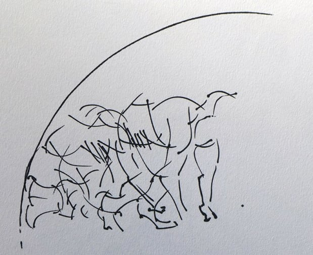 Circus Drawing by Catherine Hulme