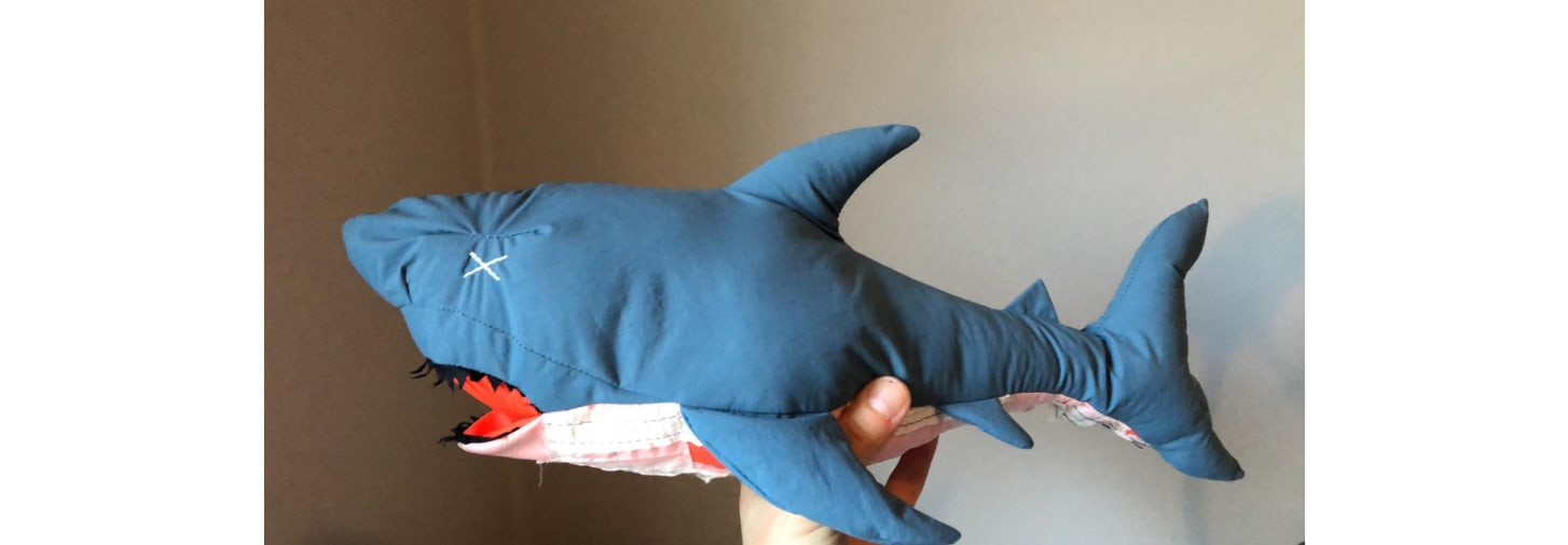 Raeburn shark, handmade