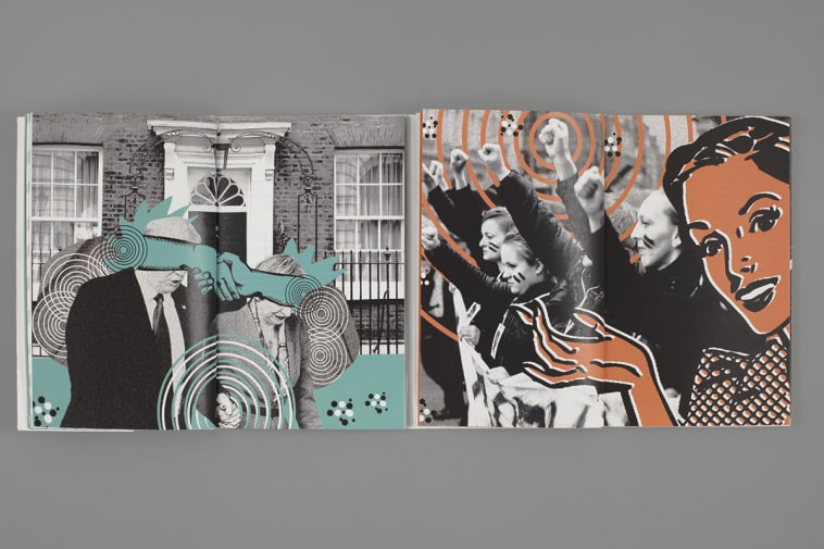 Photocollage with illustration.