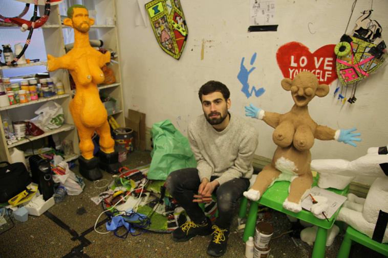 Jack Waddington in his Airspace Gallery studio