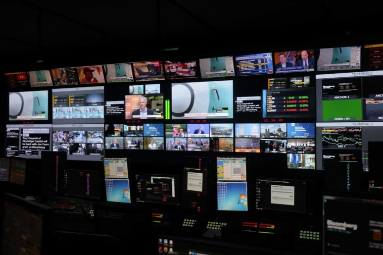 TV Studio control room