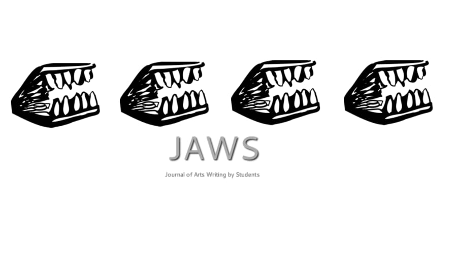 illustration of jaws - teeth and text JAWS
