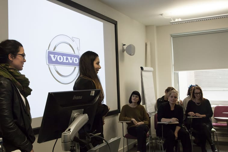 students present to Volvo