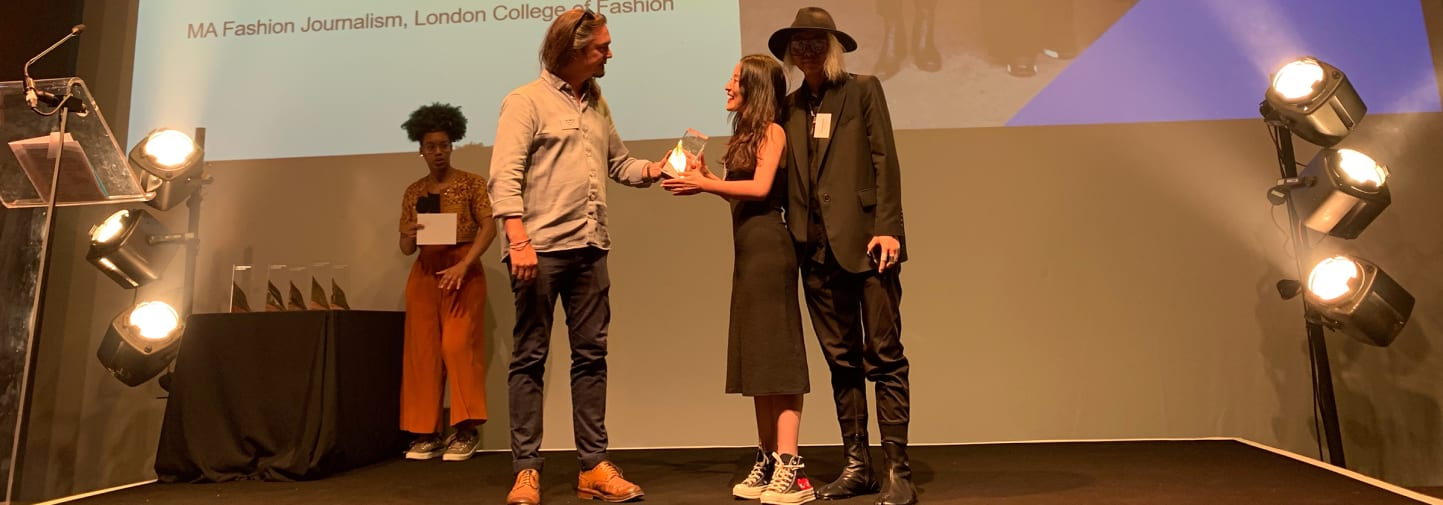 MA Fashion Journalism students win at the Creative Enterprise Awards 2019