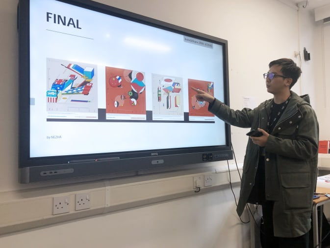 Data Visualisation student presents final project from collaboration with Beyond Words Studio.