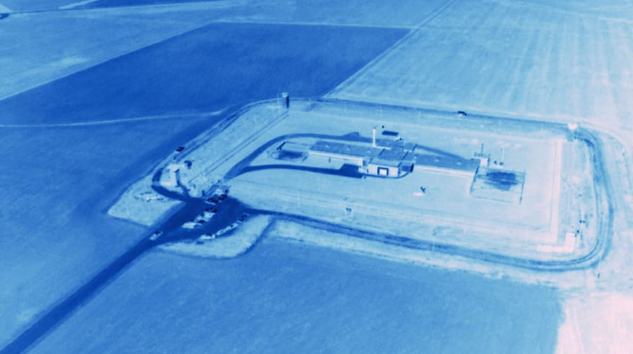 Blue negative of aerial image
