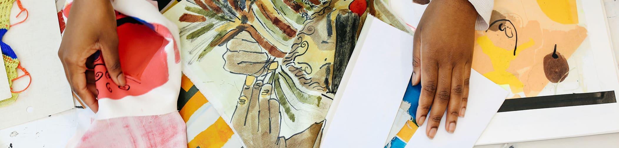 Textile designs by Memunatu Barrie, BA (Hons) Textile Design, Central Saint Martins