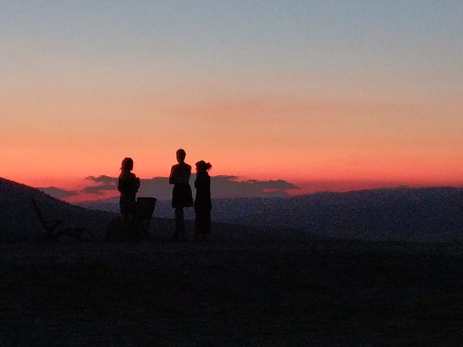 sunset with two people sillouetted