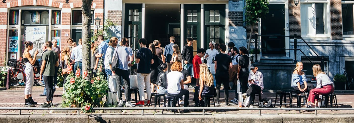 Group of people networking in Amsterdam