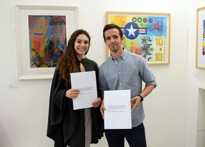 Students Jonathan Morris and Grace Pappas