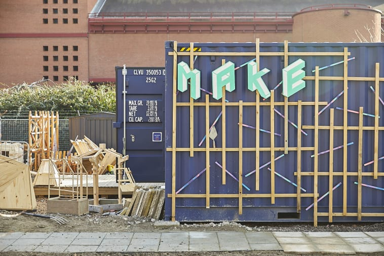 Shipping container with 'MAKE