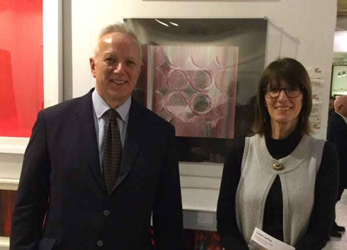 Gill Smith at AAF with Tim Clear, the HM Consul-General in Milan