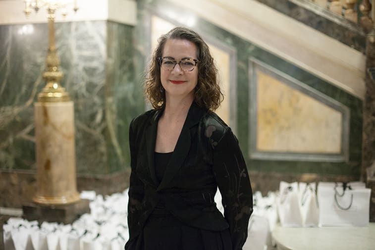 Professor Corner, OBE, at the Women Inspiration and Enterprise Awards