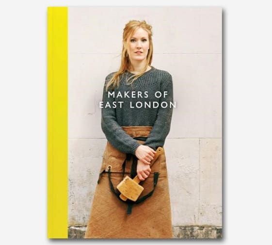 MA Designer Maker alumna Katharina Eisenkoeck featured on the cover of the book Makers of East London