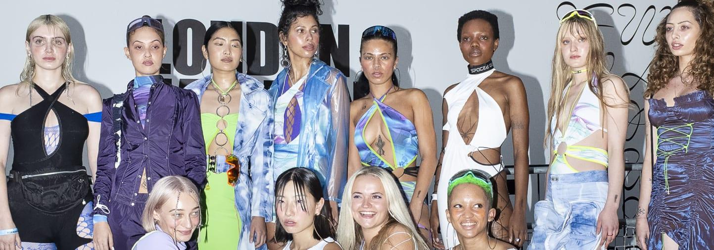 Sinead Gorey and team at London Fashion Week