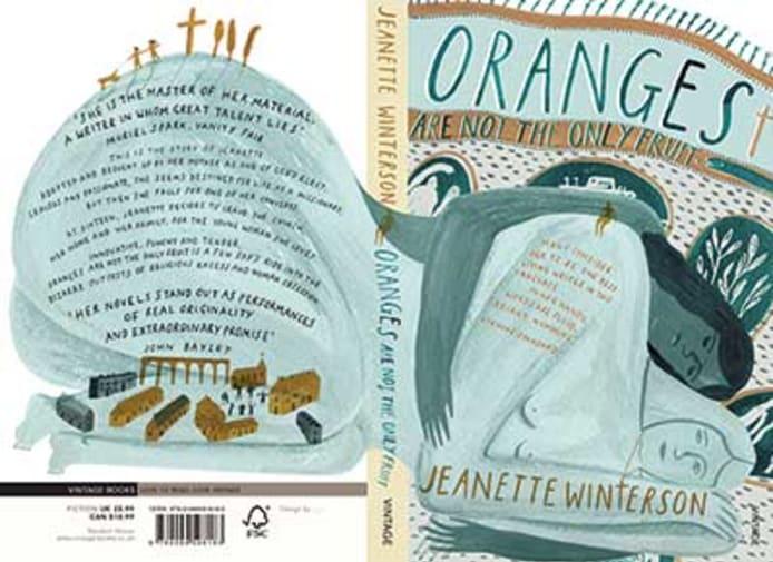 Georgie McAusland, 'Oranges Are Not The Only Fruit', Full Cover Design, Random House Award, Third Place 2015. Image: www.penguinrandomhousedesignaward.co.uk