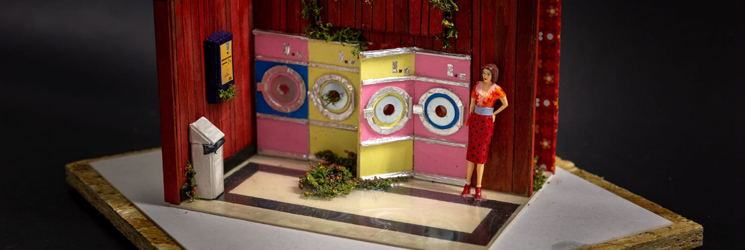 Laundrette model by Wimbledon BA Theatre Design student.