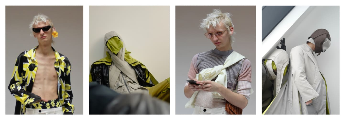 Male models wearing Charles Jeffrey collaboration