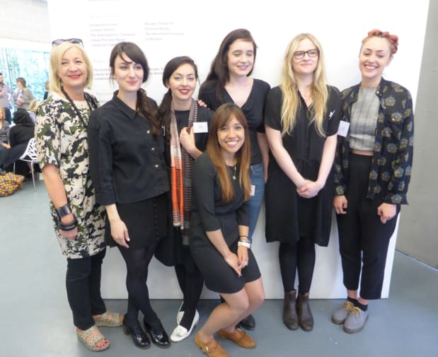 BA Textiles Texprint winners with Anne Smith.