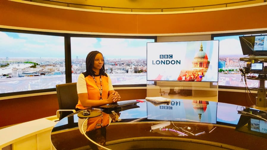Mariama on the news desk