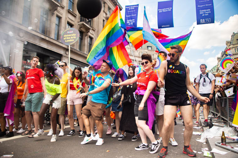 UAL staff celebrating at Pride in London 2019
