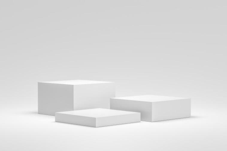 empty podium (3 white blocks)
