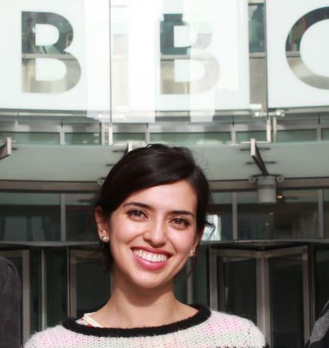 Ana outside the BBC