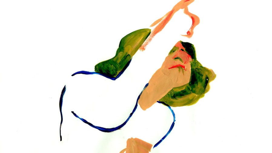 abstract image of woman pointing