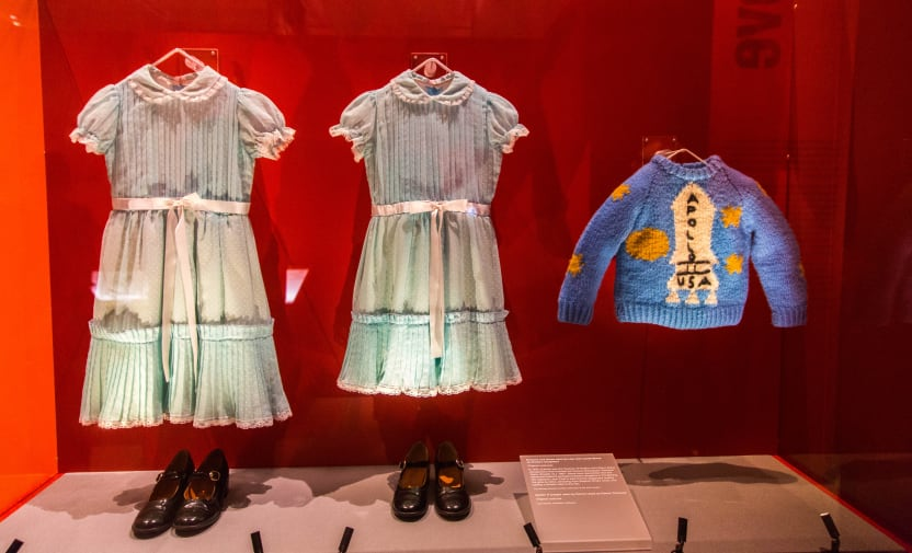 LONDON, ENGLAND - MAY 2019: Original costume props from the adaptation of The Shining, starring Jack Nicholson and Directed by Stanley Kubrick. On display along with other pieces at the Design Museum. - Image Hethers/Shutterstock
