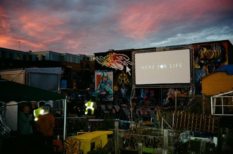 Outdoor film screen London