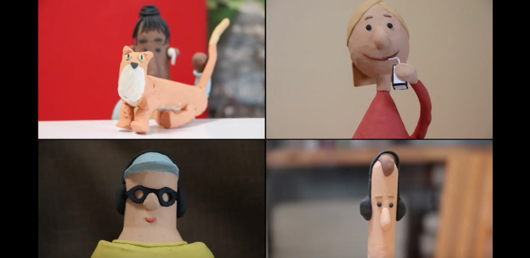 Scene from claymation movie