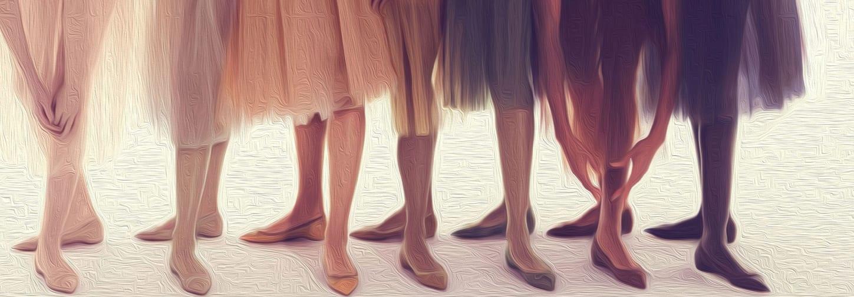 ballerinas in various nude shades