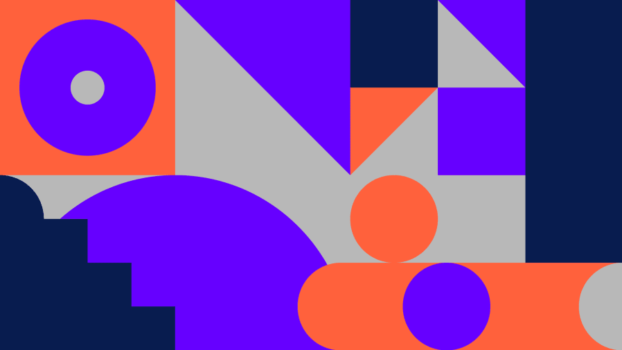 Fashion Means Business 2020 blue and orange graphic