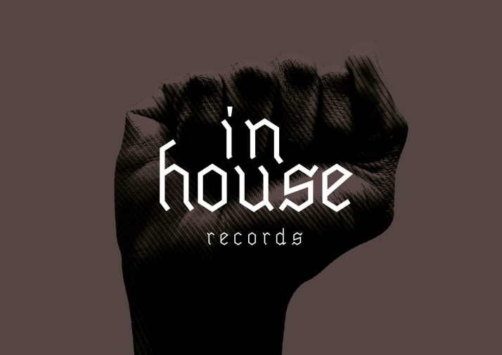 Picture of a fist with the words 'InHouse Records' on top