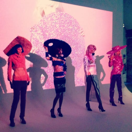 Christian Cowan-Sanluis' presentation at London Fashion Week AW14