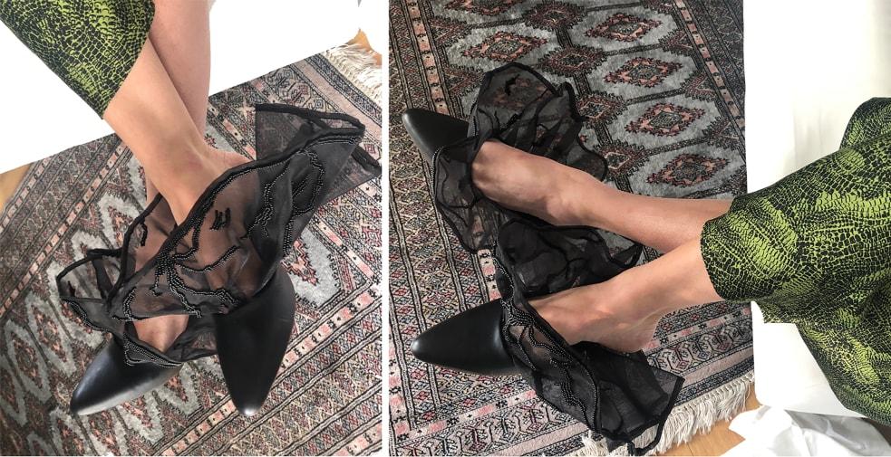 Shoes on a carpet
