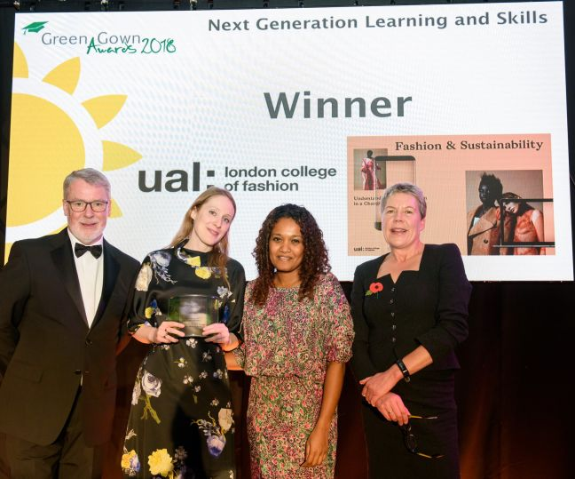 LCF team at the 2018 Green Gown Awrds Photo courtesy of UAUC