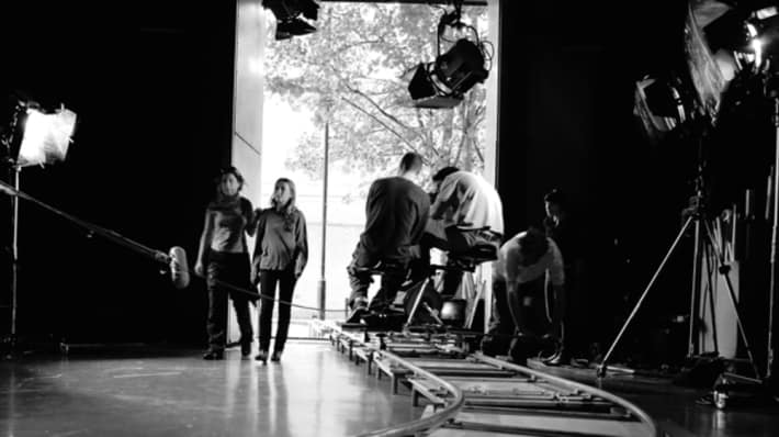 Film and Video students on set