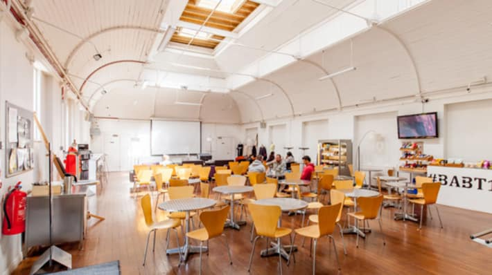 Interior of canteen at LCF Mare Street