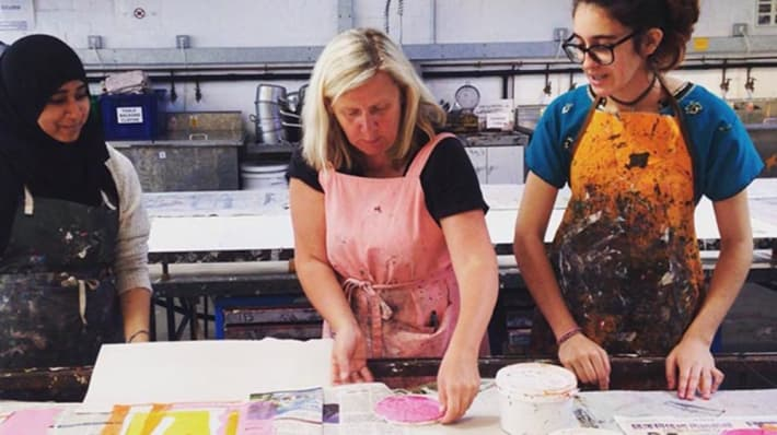Paint workshop at London College of Fashion. Explore our latest university jobs