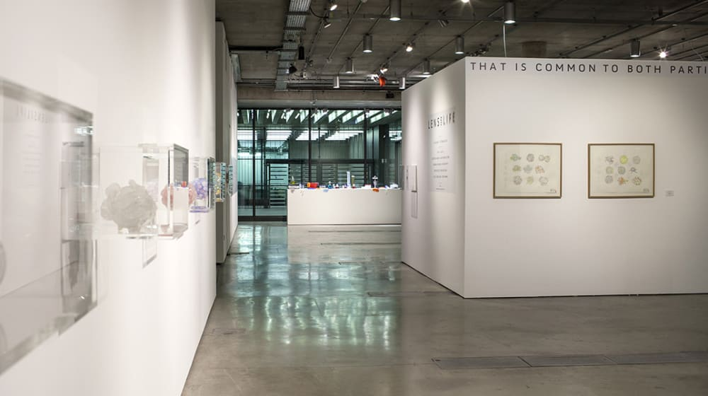 Works on display in the Lethaby Gallery