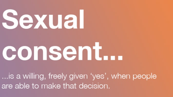 Sexual consent campaign poster