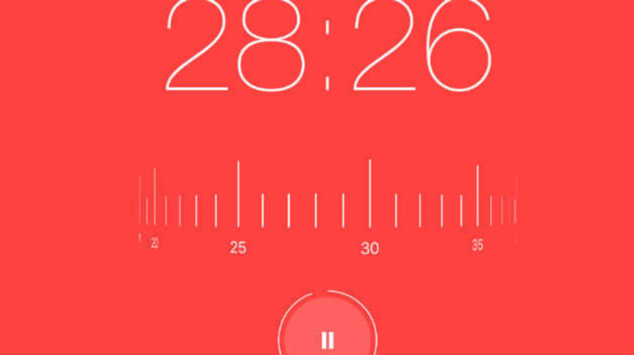 Screenshot of the Focus Keeper timer app