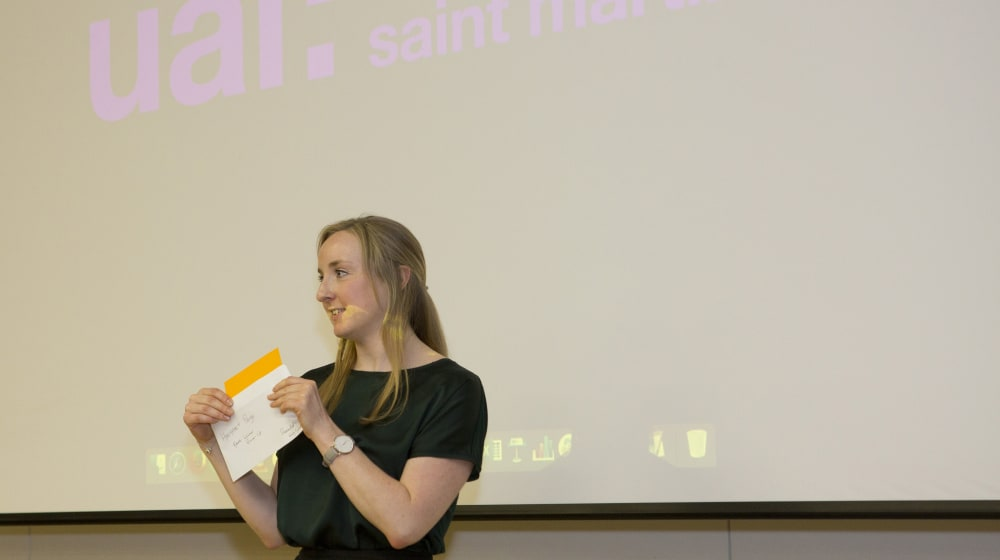 Katy Lynch, Associate, Hollyport Capital at the Prize Giving