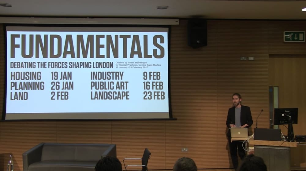Oliver Wainwright speaking at Fundamentals lecture series